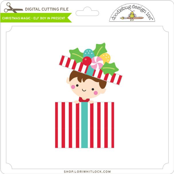 Christmas Magic - Elf Boy in Present