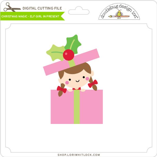 Christmas Magic - Elf Girl in Present