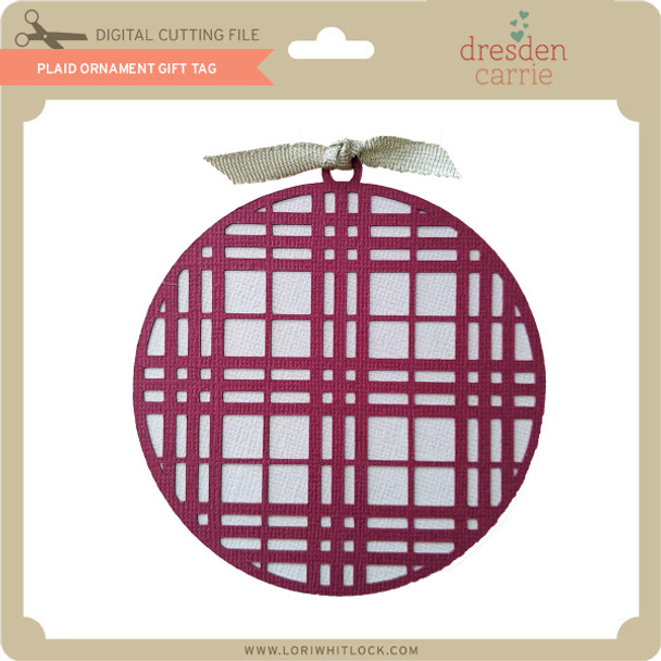 Plaid Ornament Gift Tag