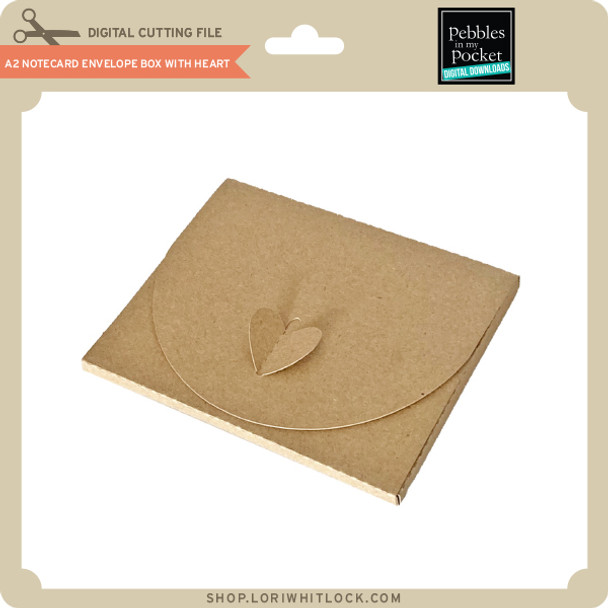 A2 Notecard Envelope Box with Heart