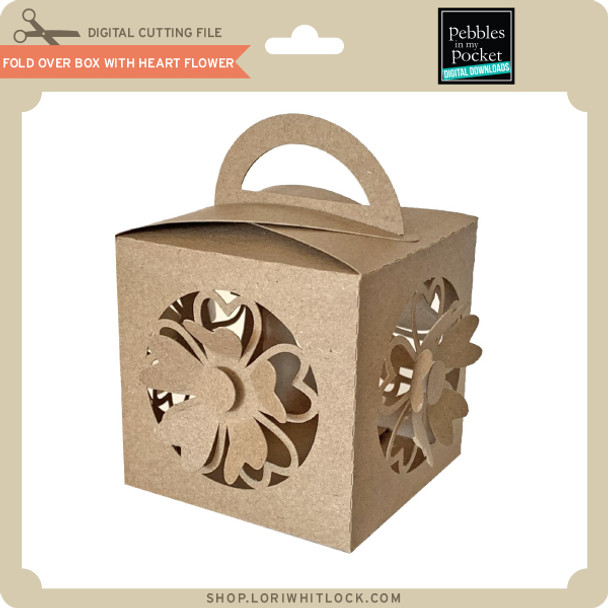 Fold Over Box with Heart Flower