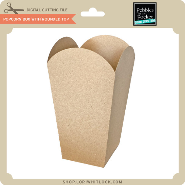 Popcorn Box with Rounded Top