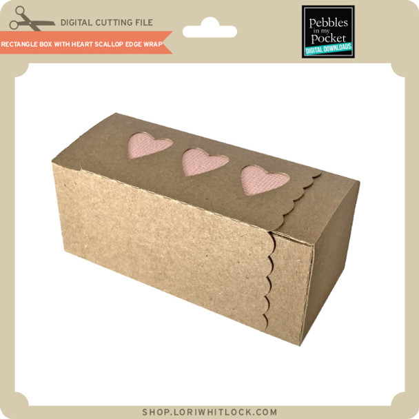 Rectangle Box with Heart Scallop Edge Wrap