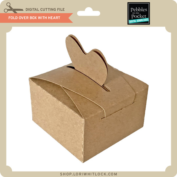 Fold Over Box with Heart