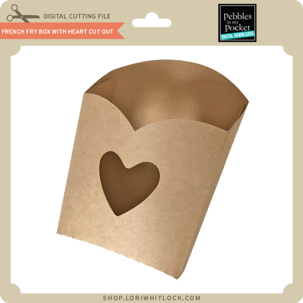 French Fry Box with Heart Cut Out