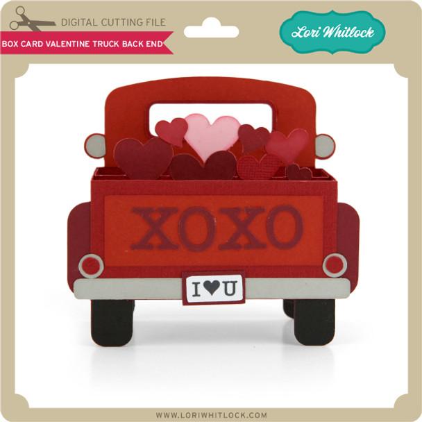 Box Card Valentine Truck Back End