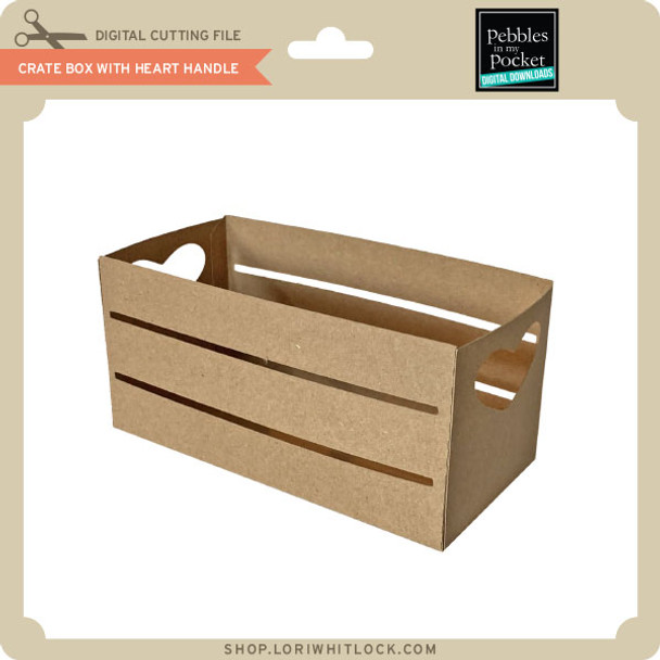 Crate Box With Heart Handle