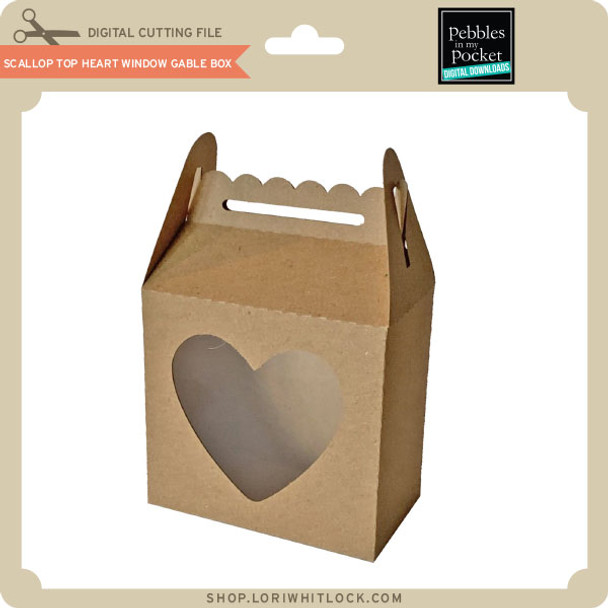 Scallop Top Heart Window Gable Box