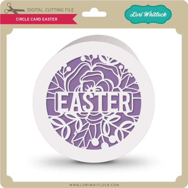 Circle Card Easter