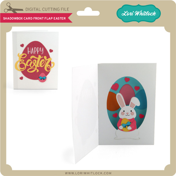Shadowbox Card Front Flap Easter