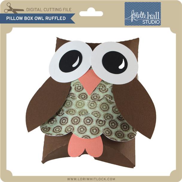 Pillow Box Owl Ruffled