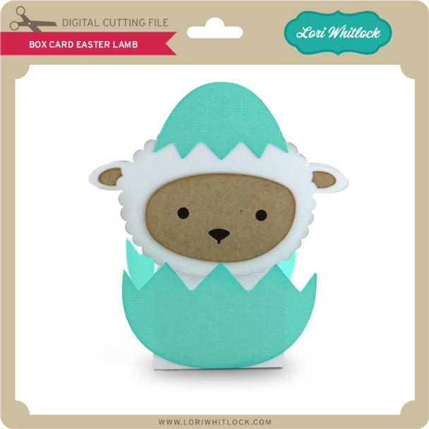 Box Card Easter Lamb