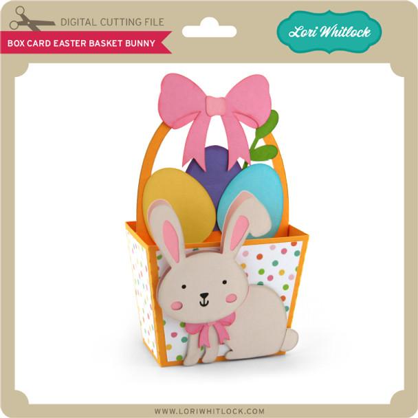 Box Card Easter Basket Bunny