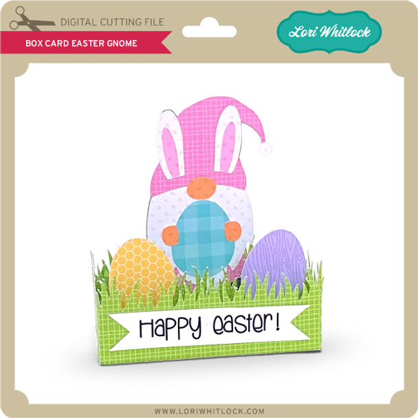 Box Card Easter Gnome