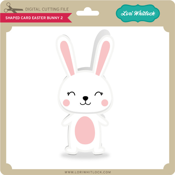 Shaped Card Easter Bunny 2