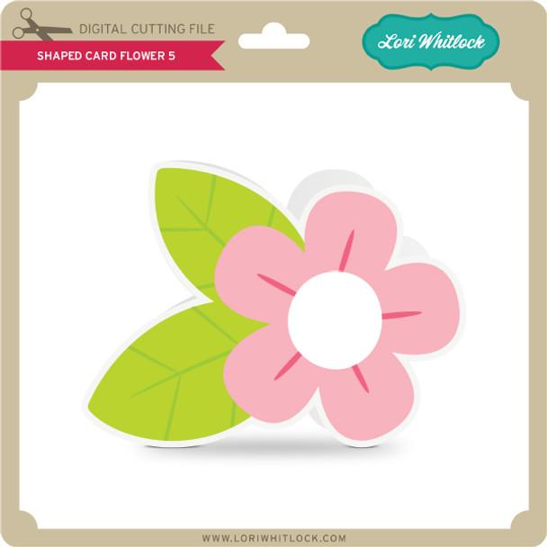 Shaped Card Flower 5