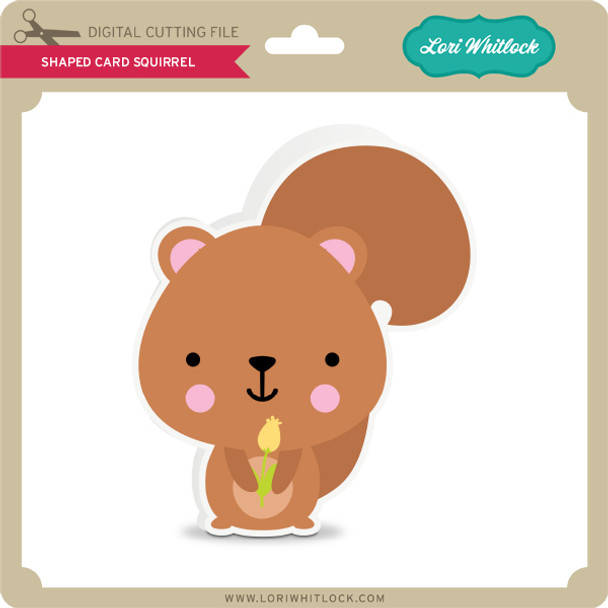 Shaped Card Squirrel