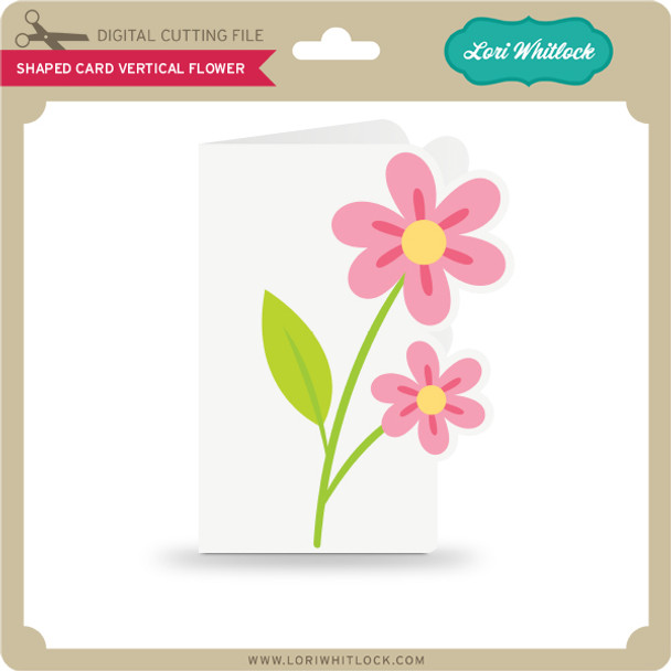Shaped Card Vertical Flower
