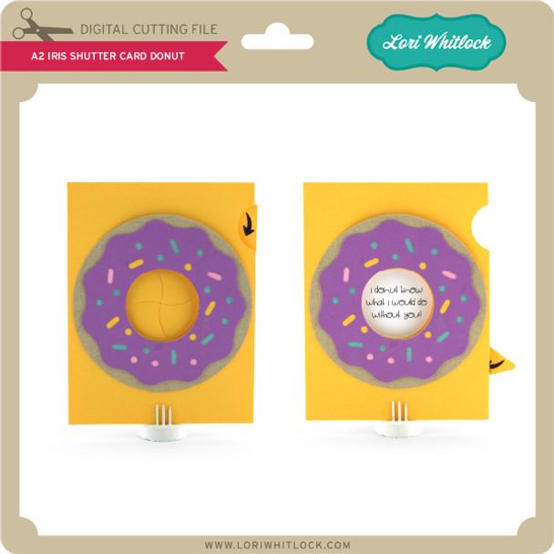 A2 Iris Shutter Card Birthday Donut