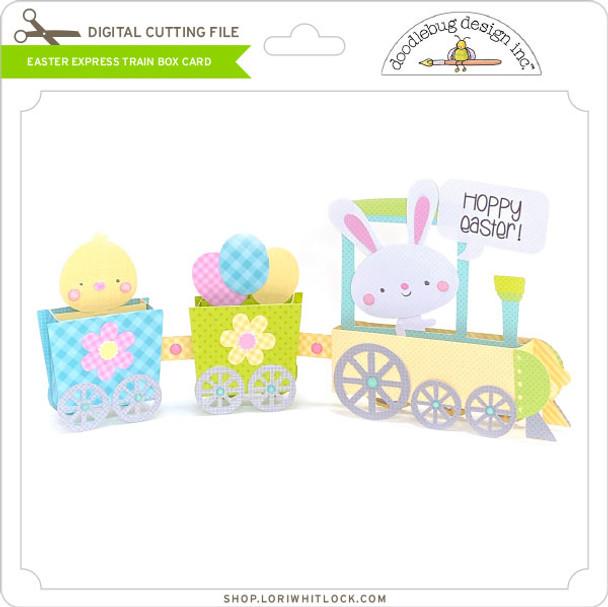 Easter Express Train Box Card