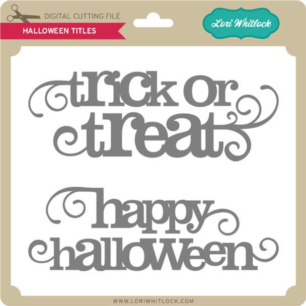 Halloween Titles