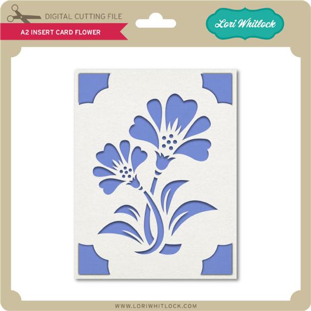 A2 Insert Card Flower