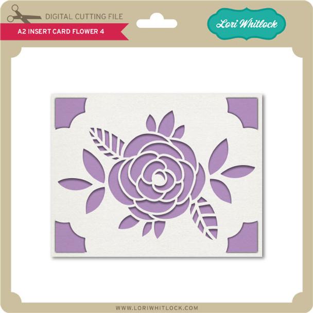 A2 Insert Card Flower 4