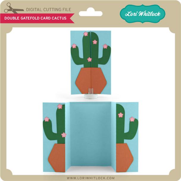 Double Gatefold Card Cactus