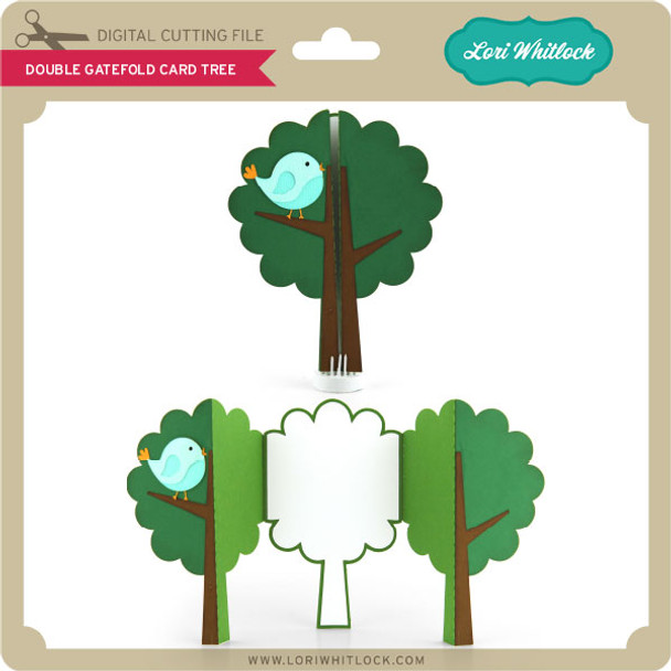 Double Gatefold Card Tree