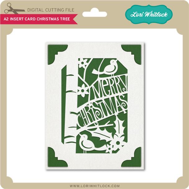 A2 Insert Card Christmas Tree