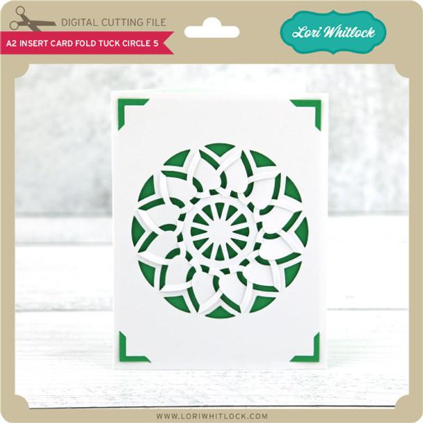 A2 Insert Card Fold Tuck Circle 5