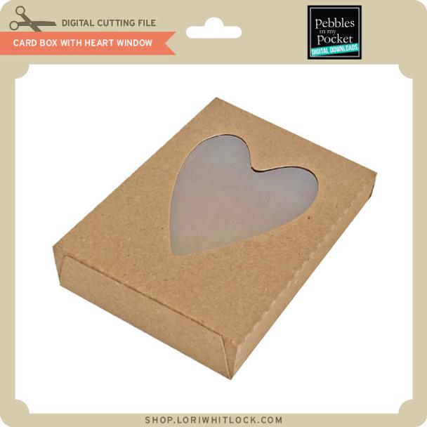 Card Box with Heart Window