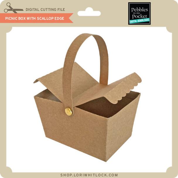 Picnic Box with Scallop Edge