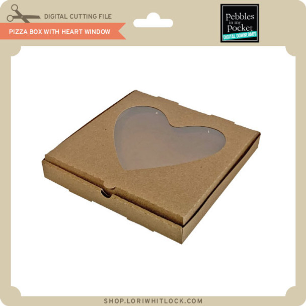 Pizza Box with Heart Window
