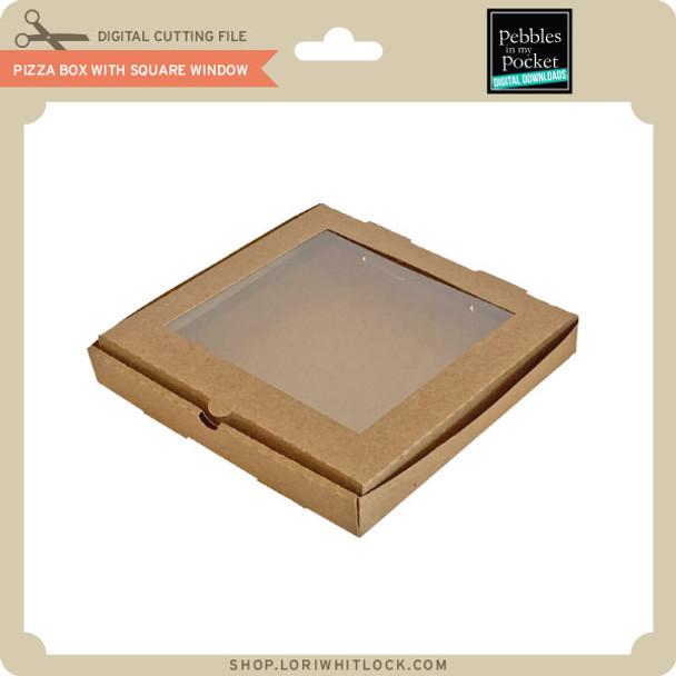 Pizza Box with Square Window