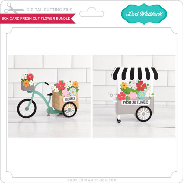 Box Card Fresh Cut Flower Bundle