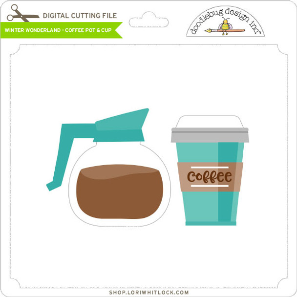 Winter Wonderland - Coffee Pot & Cup