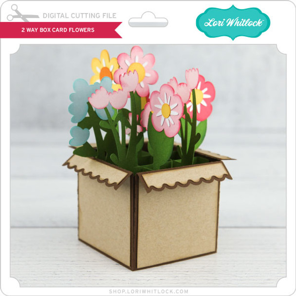 2 Way Box Card Flowers