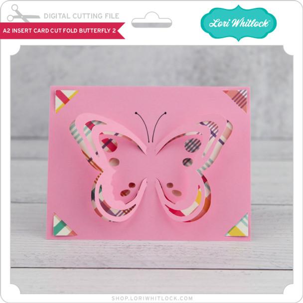 A2 Insert Card  Cut Fold Butterfly 2