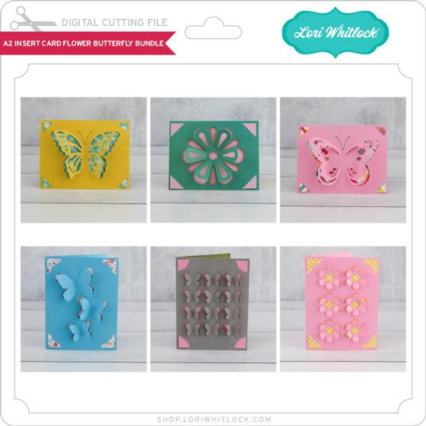 A2 Insert Card Flower Butterfly Bundle