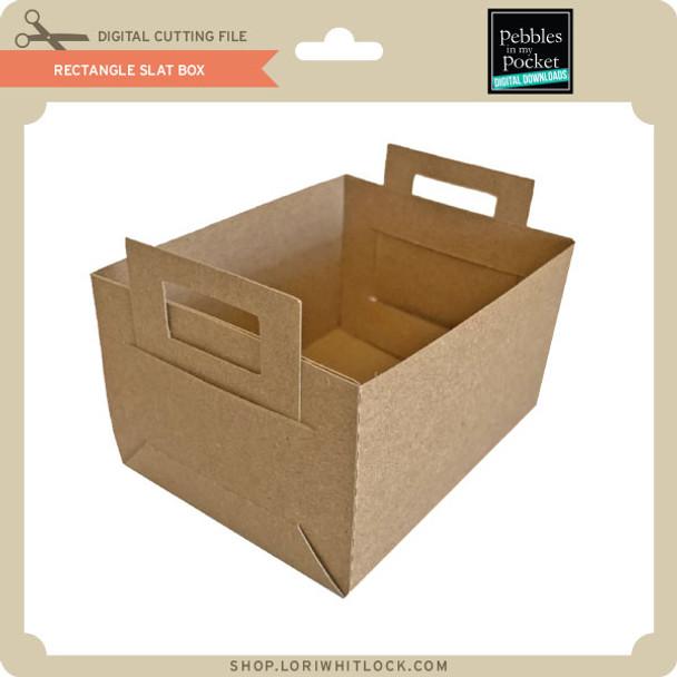 Rectangle Slat Box