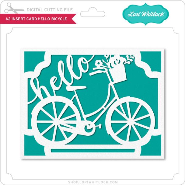 A2 Insert Card Hello Bicycle