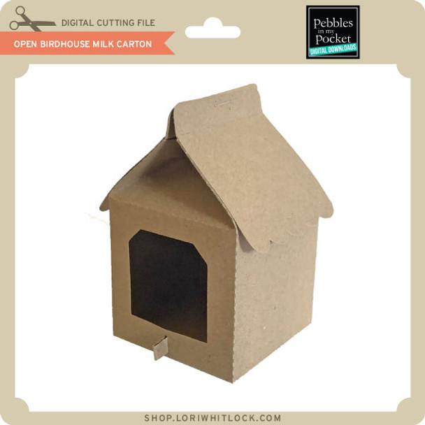 Open Birdhouse Milk Carton