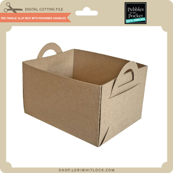 Rectangle Slat Box With Rounded Handles