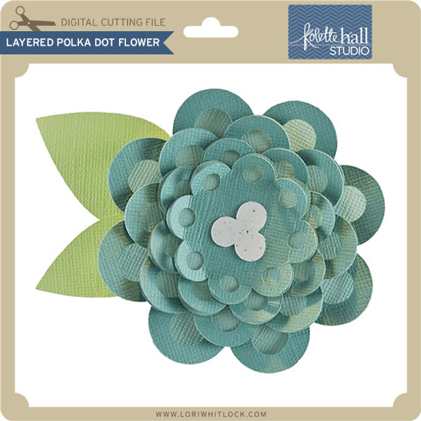 Layered Polka Dot Flower
