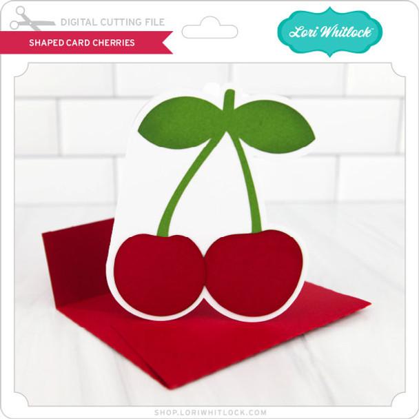 Shaped Card Cherries