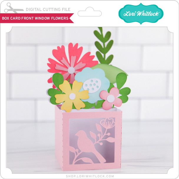 Box Card Front Window Flowers