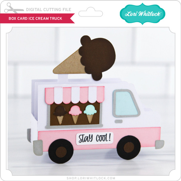Box Card Ice Cream Truck