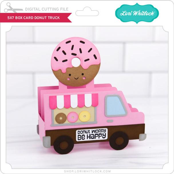 5x7 Box Card Donut Truck