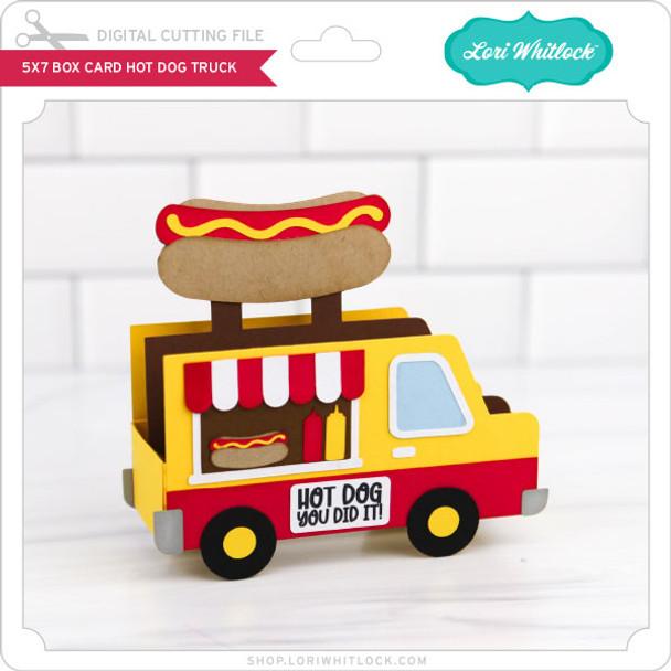 5x7 Box Card Hot Dog Truck